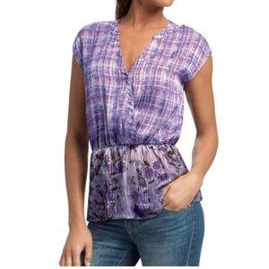 CAbi Eva Purple Astor Sleeveless Blouse Top #731 L